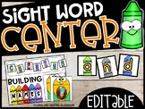 EDITABLE Back to School   Building Sight Words or Names (USE ANY WORD LIST!)