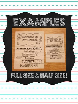 Back to School Class Information Flipbook EDITABLE