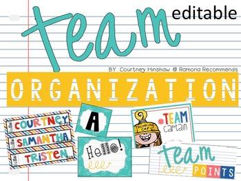 EDITABLE Back to School Classroom Organization Pack