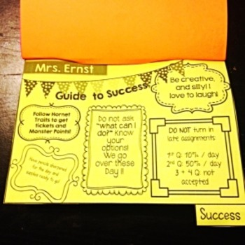 EDITABLE Back to School Flip Book