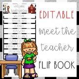 EDITABLE Back to School Flip Book {Back to School • Meet the Teacher}