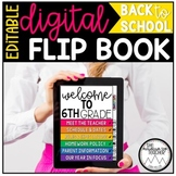 EDITABLE Back to School Flip Book | DIGITAL | DISTANCE LEARNING