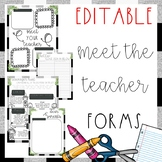 EDITABLE Back to School Forms {Back to School • Meet the Teacher}