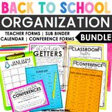 EDITABLE Back to School Forms & Logs - Teacher Organizatio