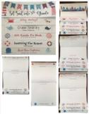 EDITABLE Back to School Information Flip Book - Nautical Theme