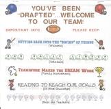 EDITABLE Back to School Information Flip Book - Sports Theme