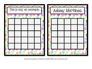 EDITABLE Back to School:  Name Plates, Cubby/Locker Tags and Sticker Chart Sets