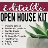 EDITABLE Back to School Night & Open House Kit