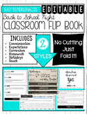 EDITABLE Back to School Night Parent Flip Book - Meet the Teacher