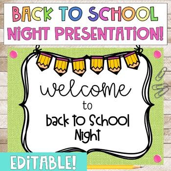 EDITABLE Back to School Night Powerpoint Presentation
