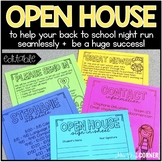 EDITABLE Back to School Night and Open House Documents | Meet the Teacher