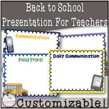 EDITABLE Back to School / Open House / Welcome Presentation