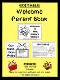 EDITABLE Back to School Parent Book