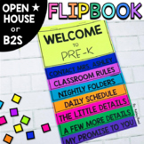 EDITABLE Back to School Parent Flip Book for Open House (F