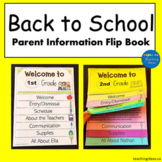 Welcome Back to School Letters Template Flip Book