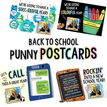 EDITABLE Back to School Meet the Teacher Postcards! (Open House)