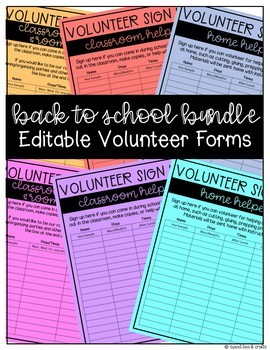 EDITABLE Back to School Resources GROWING Bundle