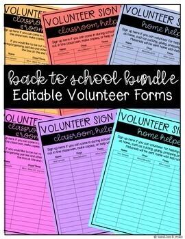EDITABLE Back to School Resources Bundle