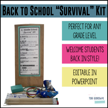 EDITABLE Back to School Survival Kit Tag and Tutorial {Dollar Deals}