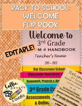 EDITABLE Back to School / Welcome Flip Book