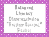 EDITABLE! Balanced Literacy Packet