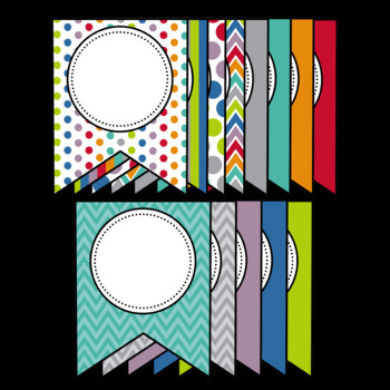 EDITABLE Banner Set: Back to School Colors