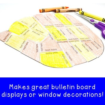 EDITABLE Baseball Mitt Puzzle | Create your own activities for Sports Decor!