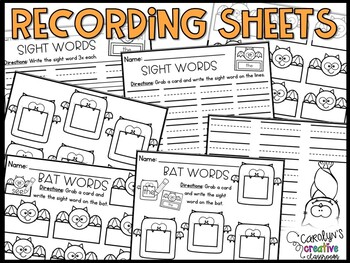 EDITABLE Bat Sight Word Center & Poem/ Chant