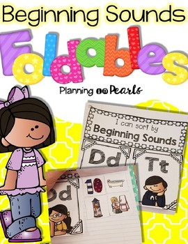EDITABLE Beginning Sounds Foldable - Interactive Journals