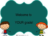 EDITABLE Beginning of Year PPT