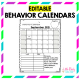 EDITABLE Behavior Calendars 2017-2018 *FREE ANNUAL UPDATES*