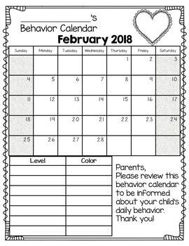 EDITABLE Behavior Calendars 2017-2018 *FREE ANNUAL UPDATES*