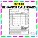 EDITABLE Behavior Calendars 2019-2020 *FREE ANNUAL UPDATES*