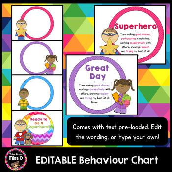Behavior Chart Editable