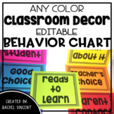 EDITABLE Behavior Clip Chart - Any Color Classroom Decor