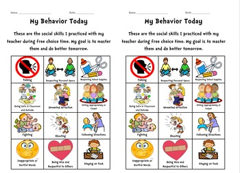 EDITABLE Behavior Clip Chart, Sheets, Goal Setting ***BUNDLE***