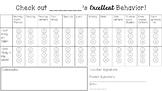 EDITABLE Behavior Contract for Lower Elementary Grades FREE!!