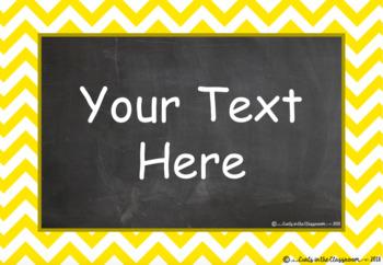 EDITABLE Behaviour Clip Chart - Chalkboard Theme