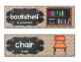 EDITABLE Bilingual Classroom Labels*Eng. & Spanish *ELL/ESL/ESOL *Chevron Burlap
