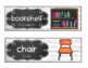 EDITABLE Bilingual Classroom Labels * Eng. & Spanish * ELL * White Wood