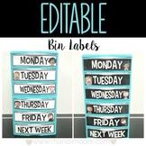 EDITABLE Bin Labels {Melonheadz}