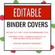 EDITABLE Binder Covers - APPLE EDITION - Teacher Binder, Substitute Binder, etc.