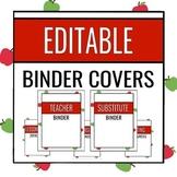 EDITABLE Binder Covers - APPLE EDITION - Teacher Binder, S