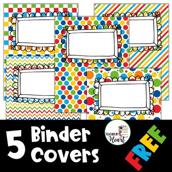 editable binder covers free by teacher by heart tpt