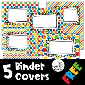 EDITABLE Binder Covers - FREE
