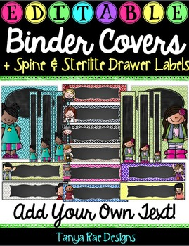 EDITABLE Binder Covers & Matching Sterilite Drawer / Desk Labels {Melonheadz}
