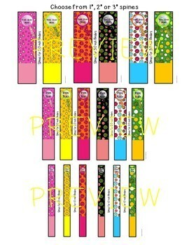 EDITABLE Binder Covers & Spines (GLITTER DOTS!)