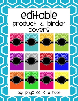 EDITABLE Binder & Product Covers