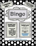 EDITABLE Bingo Cards: 17 VERSIONS (choose between blank ca