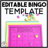 EDITABLE Bingo Templates
